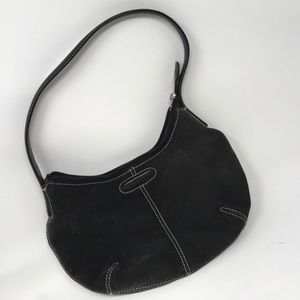 Cole Haan Suede Black Handbag Purse